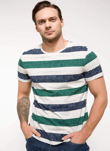 DeFacto Çizgili T-shirt Yeşil